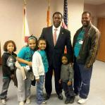 Mayor Alvin Brown with William Jackson and The Crew he mentors
