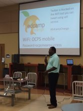 Wm Jackson speaking at EdCamp