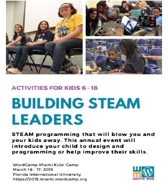 Building STEAM Leaders at WordCamp Miami